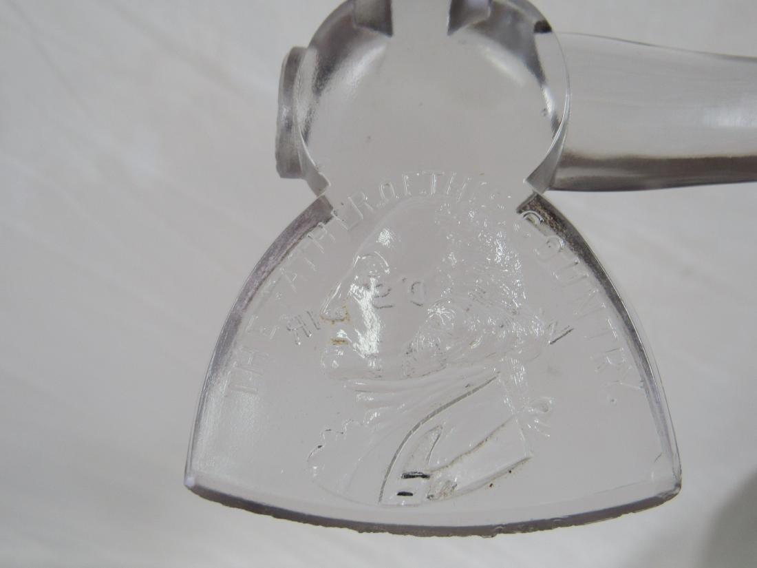 George Washington 1893 Worlds Fair Glass Ax - 3