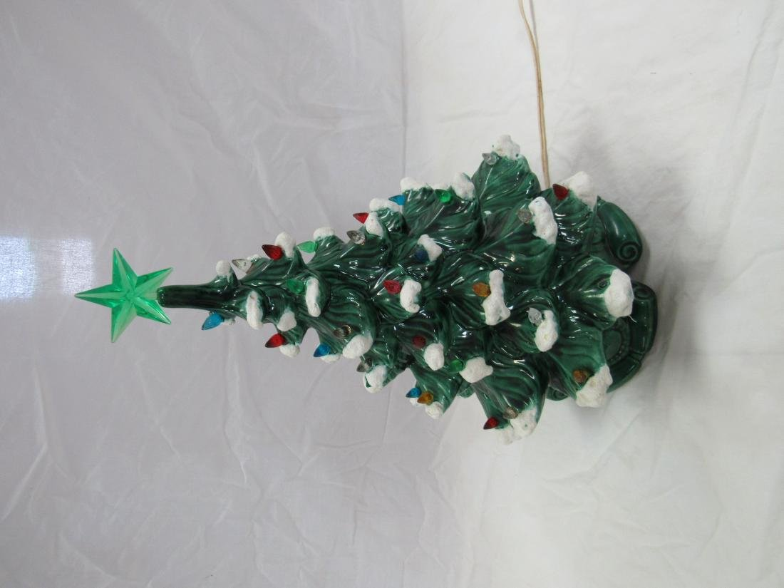 Vintage Flock Ceramic Christmas Tree