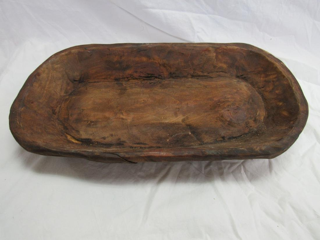 Hand-carved Wooden Dough Bowl