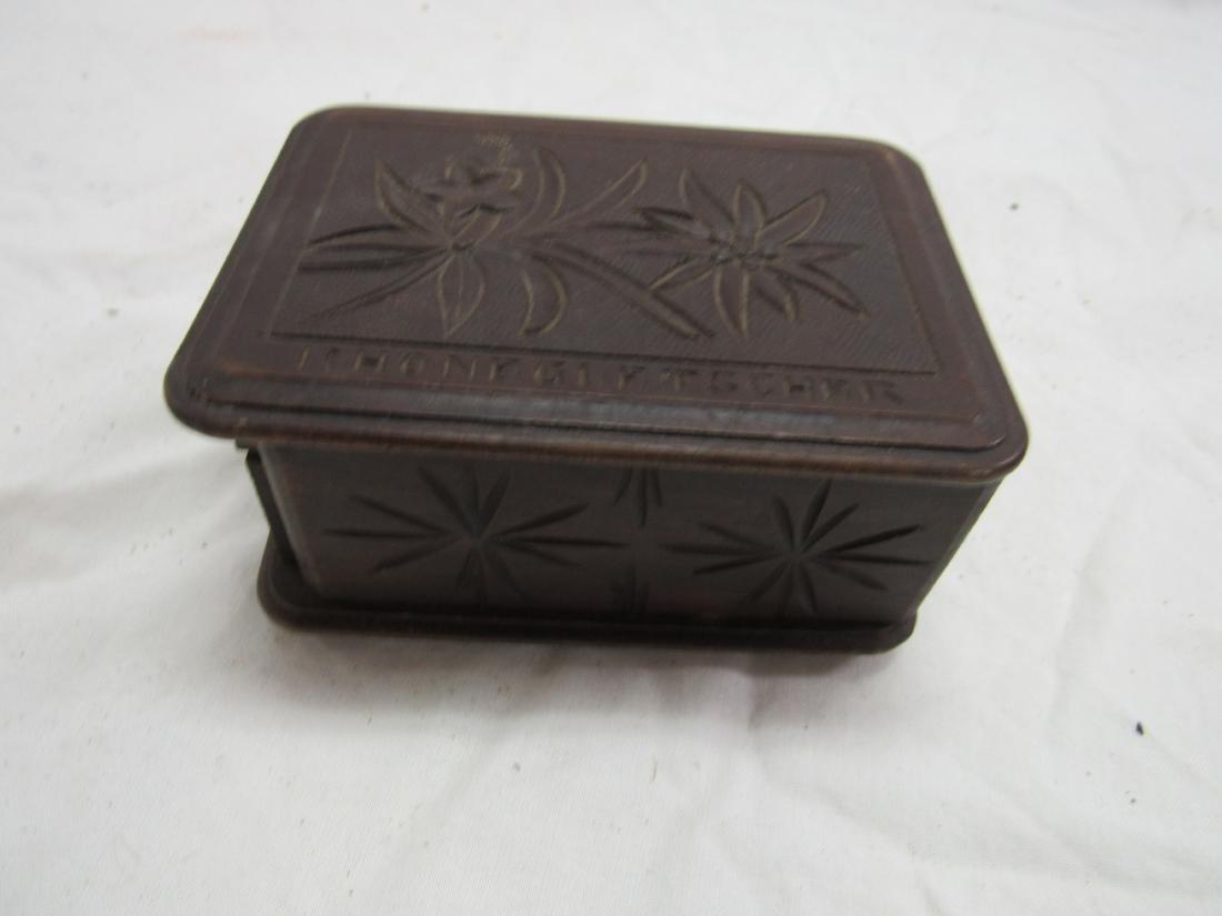 Hand-carved Rhonegletscher German Box