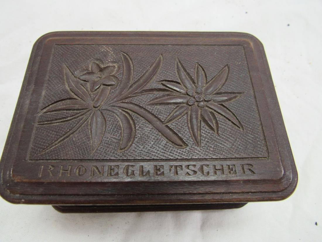Hand-carved Rhonegletscher German Box - 2