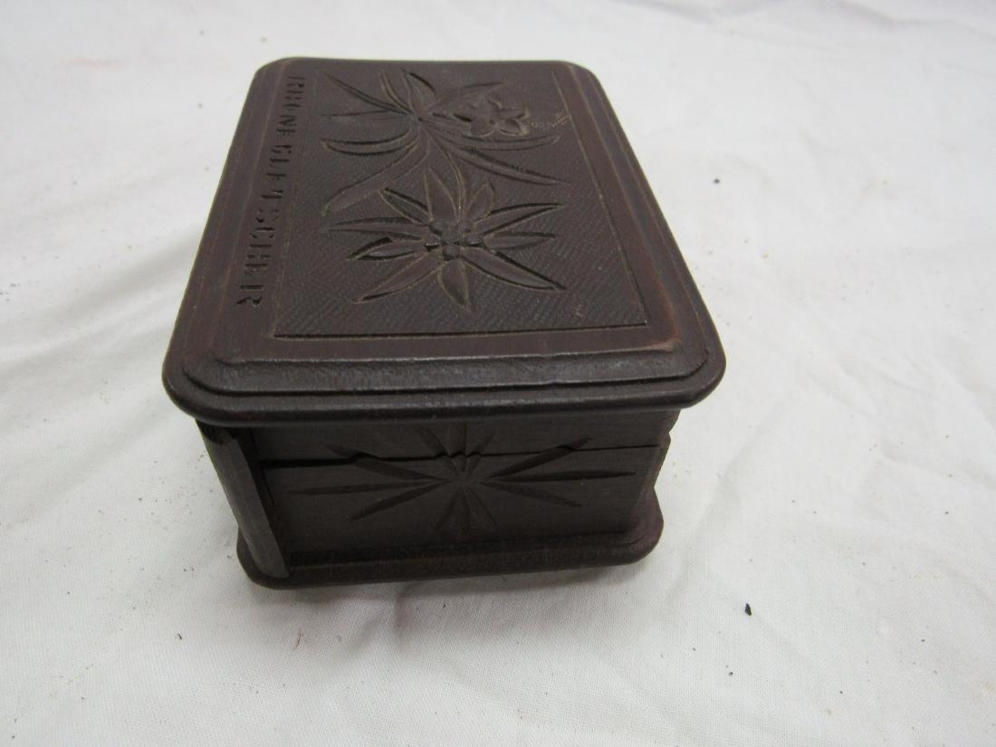 Hand-carved Rhonegletscher German Box - 3