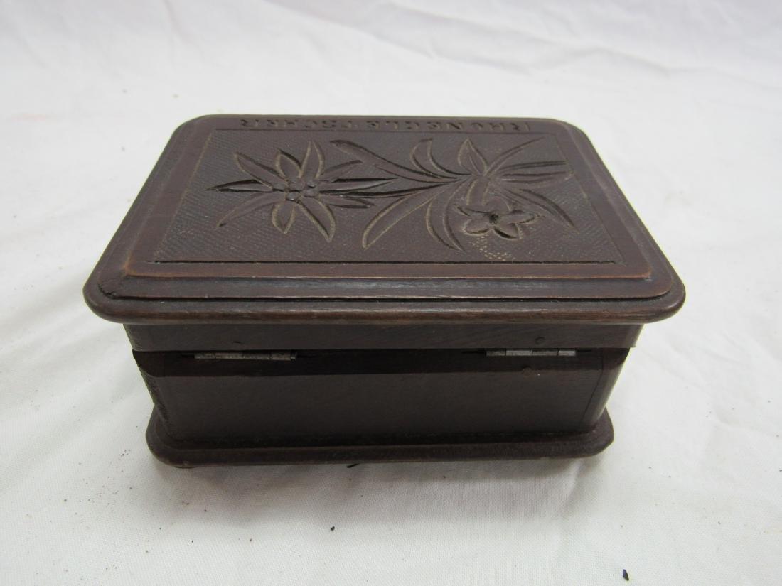 Hand-carved Rhonegletscher German Box - 4