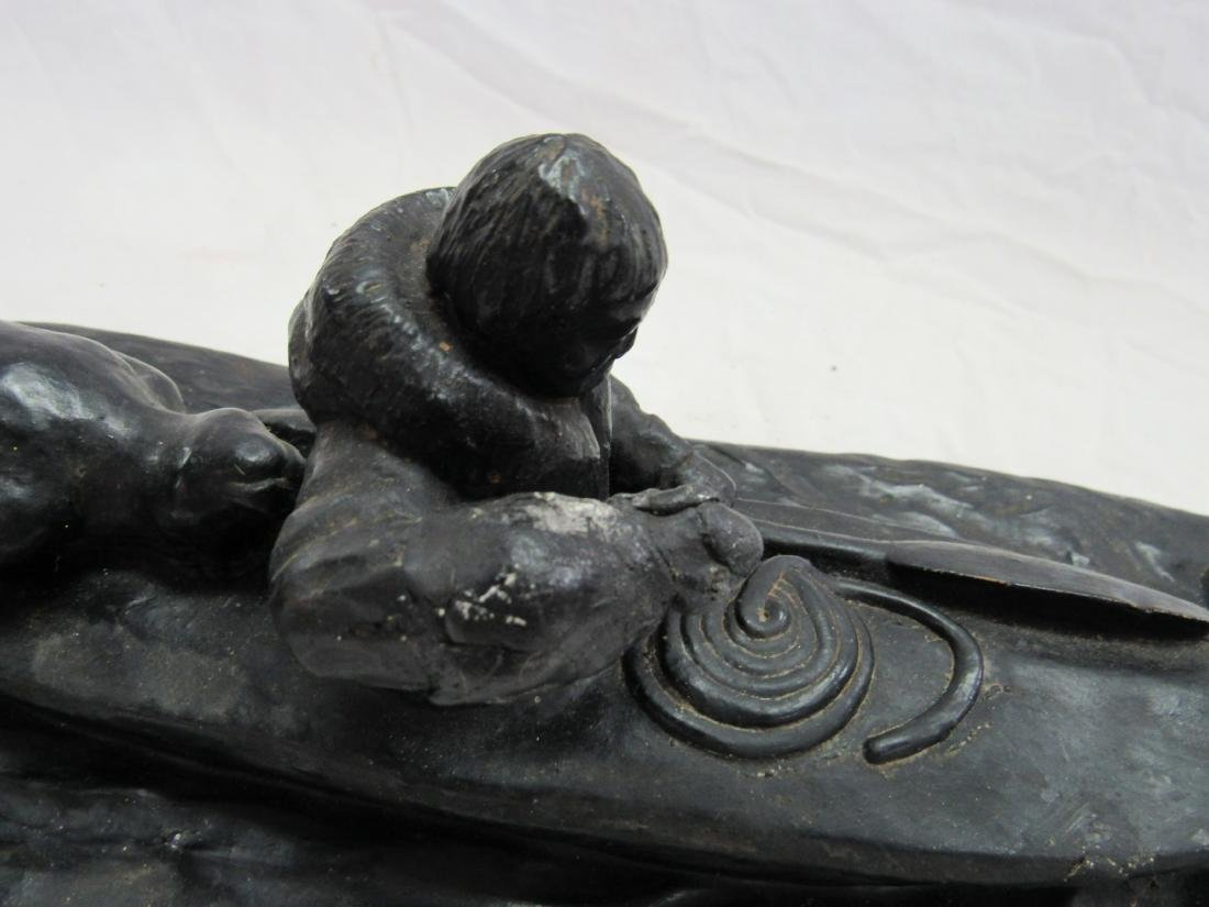 Unsigned Inuit Carved Hunter - 4