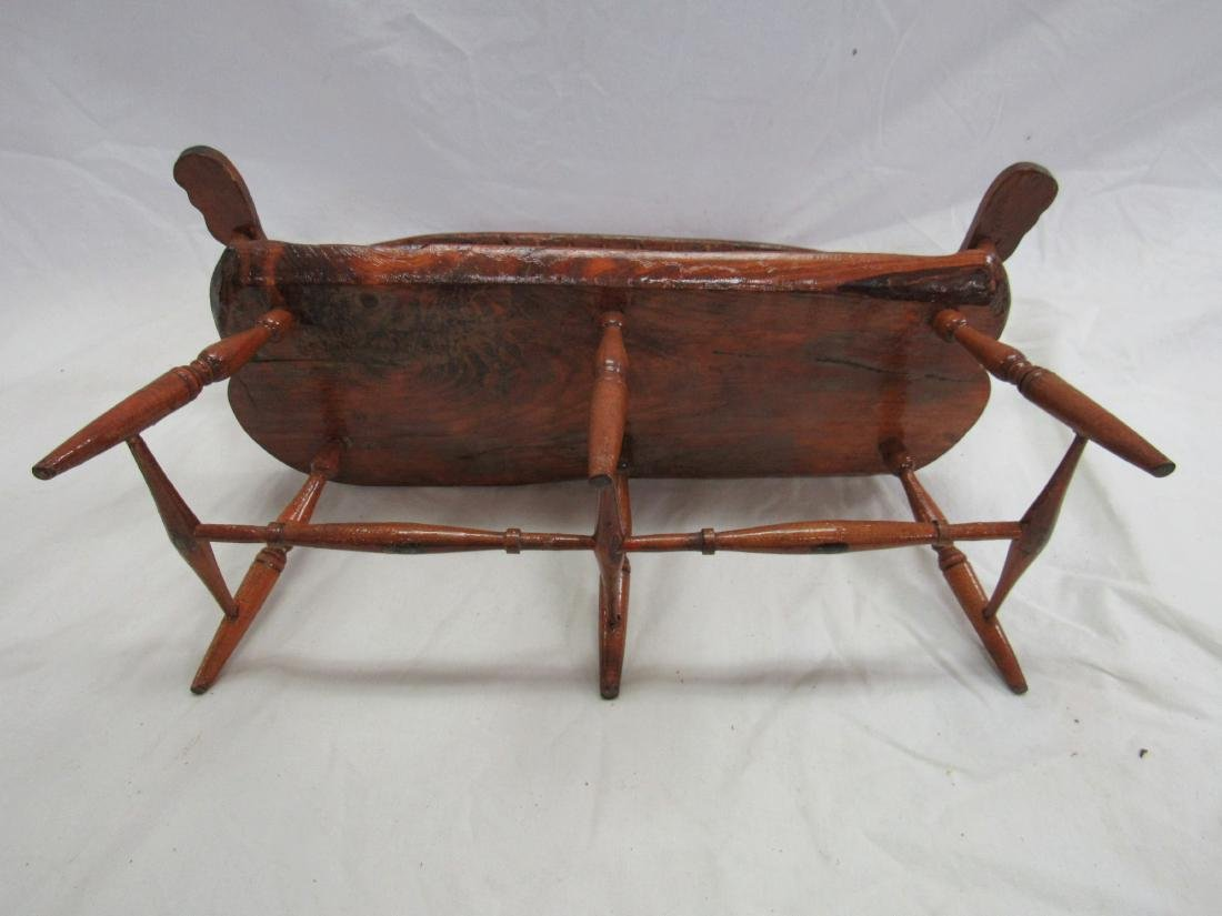 Handman Folk Art Doll Bench - 5