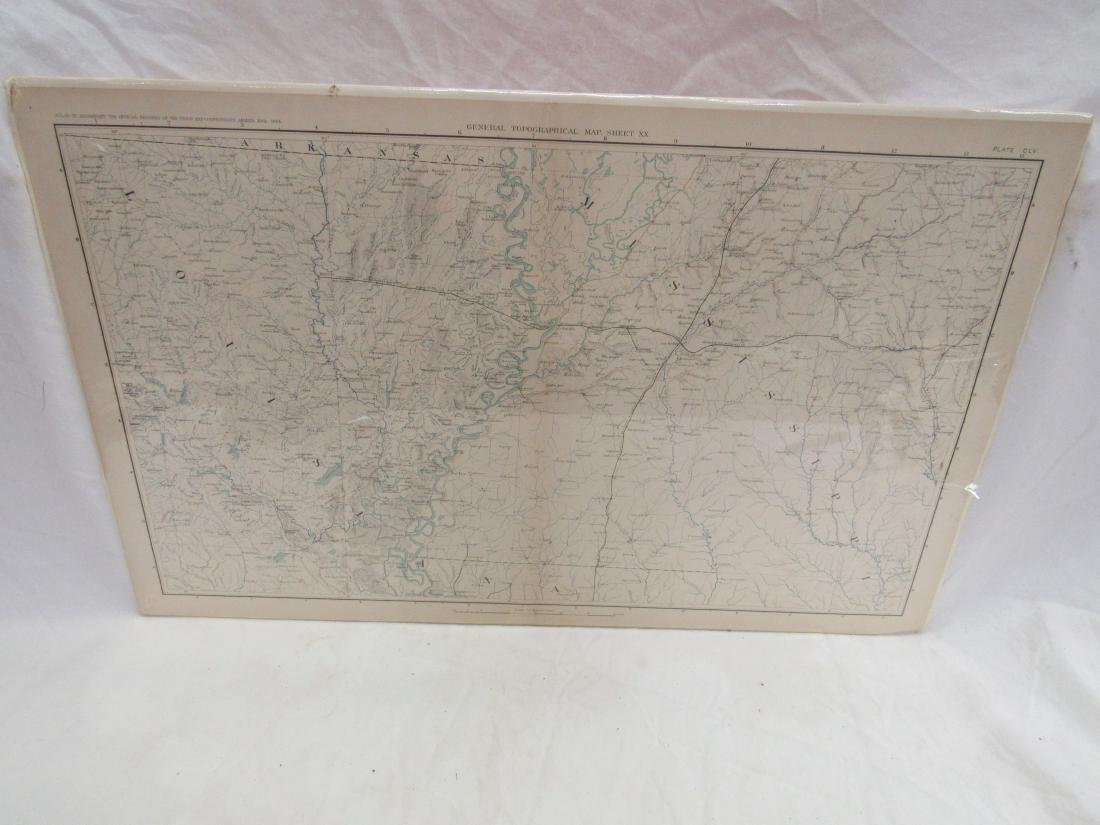 1891 Map of Mississippi by Julius & Bein Co