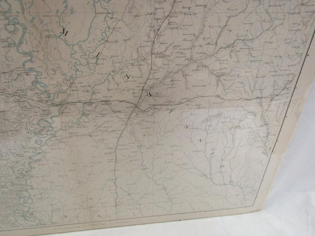 1891 Map of Mississippi by Julius & Bein Co - 2