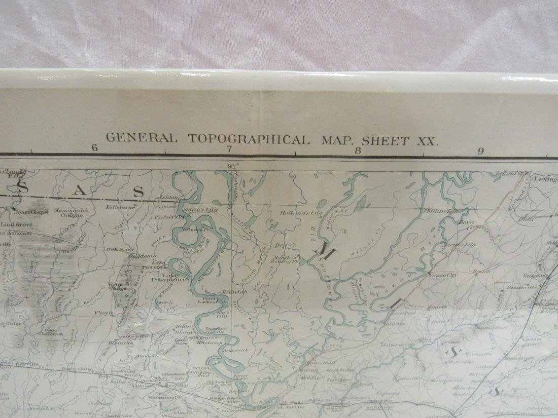 1891 Map of Mississippi by Julius & Bein Co - 4