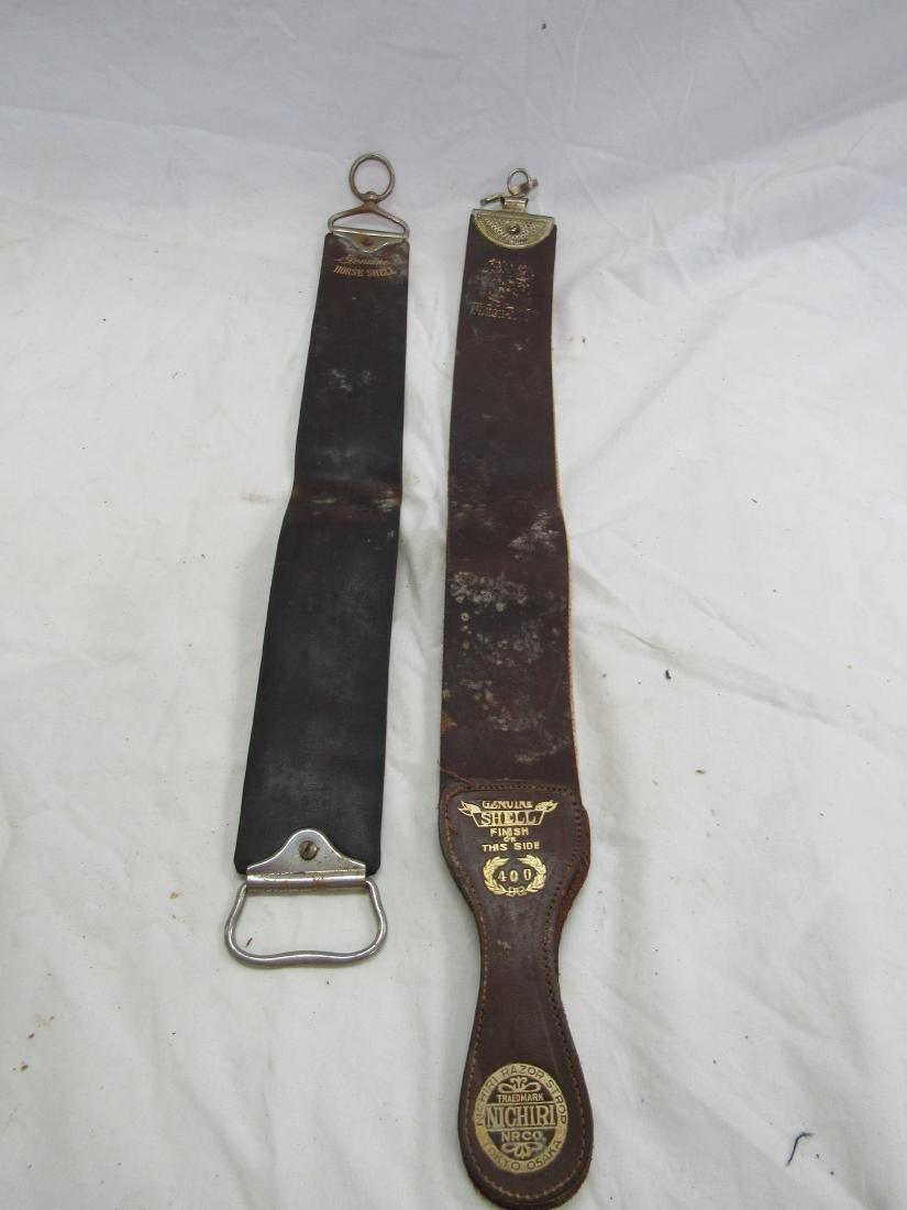 Lot of 2 Leather Razor Strops