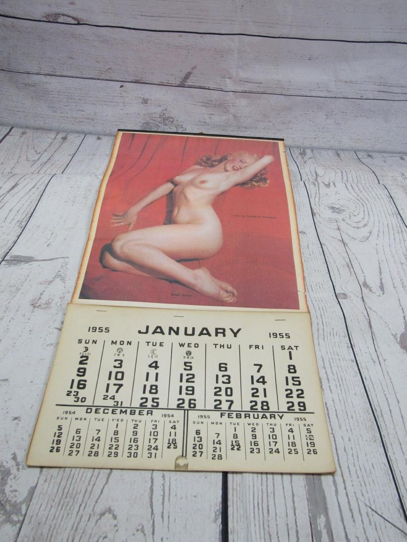 1955 Vintage Reproductin Marilyn Monroe Calendar