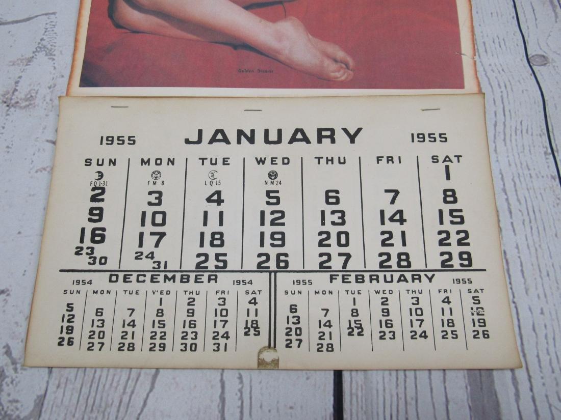 1955 Vintage Reproductin Marilyn Monroe Calendar - 3