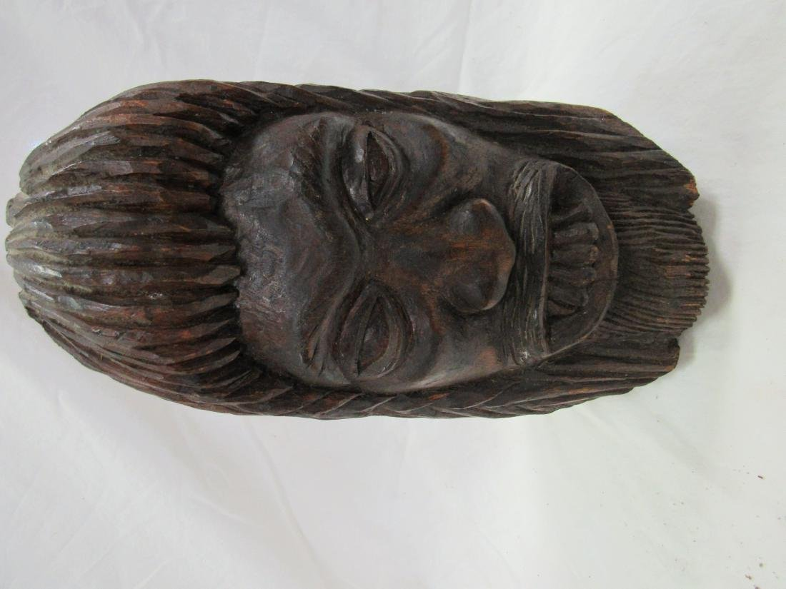 Hand-carved Jamaican Sasquatch Head