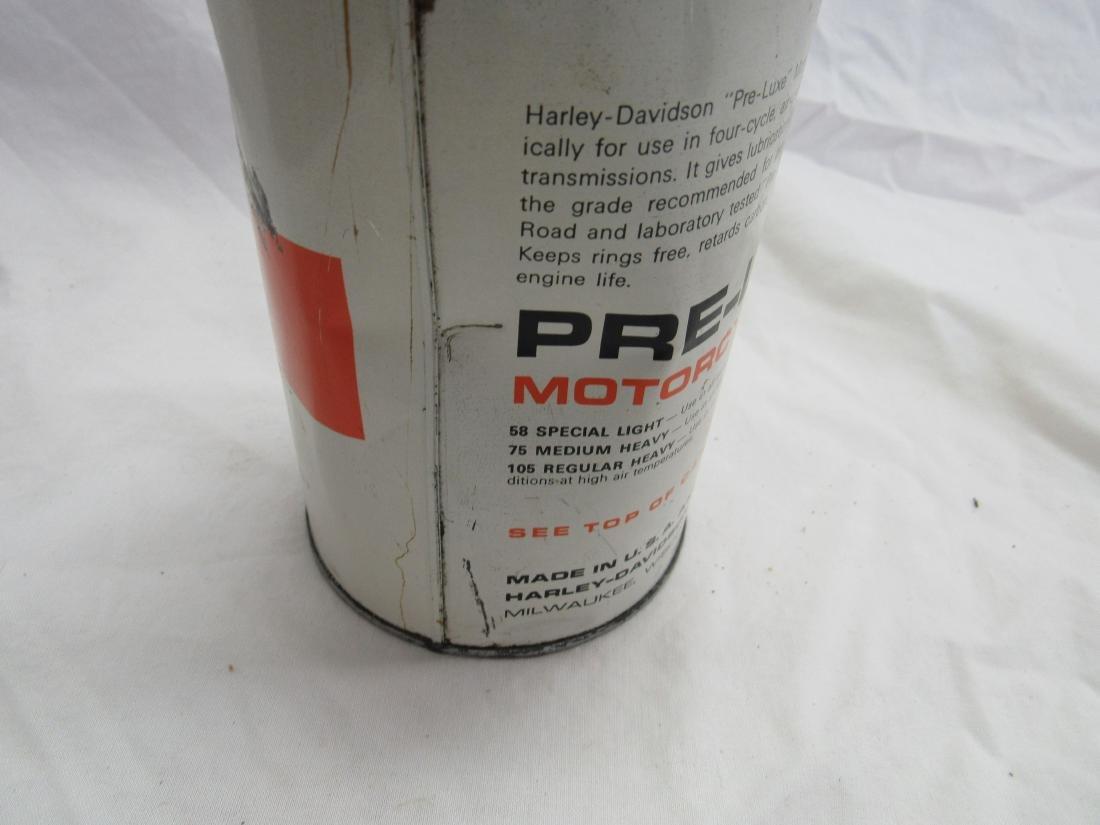 Vintage NOS Harley-Davidson Pre-Luxe 1 Quart Oil Can - 3