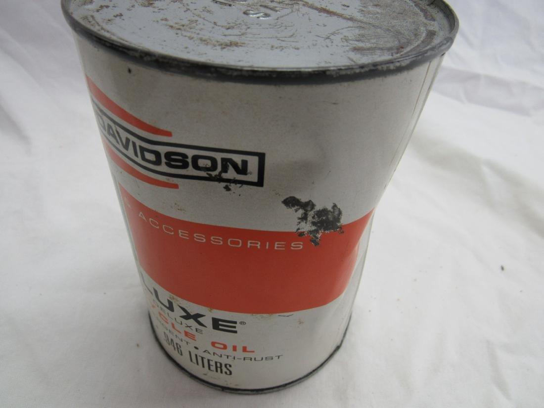 Vintage NOS Harley-Davidson Pre-Luxe 1 Quart Oil Can - 4