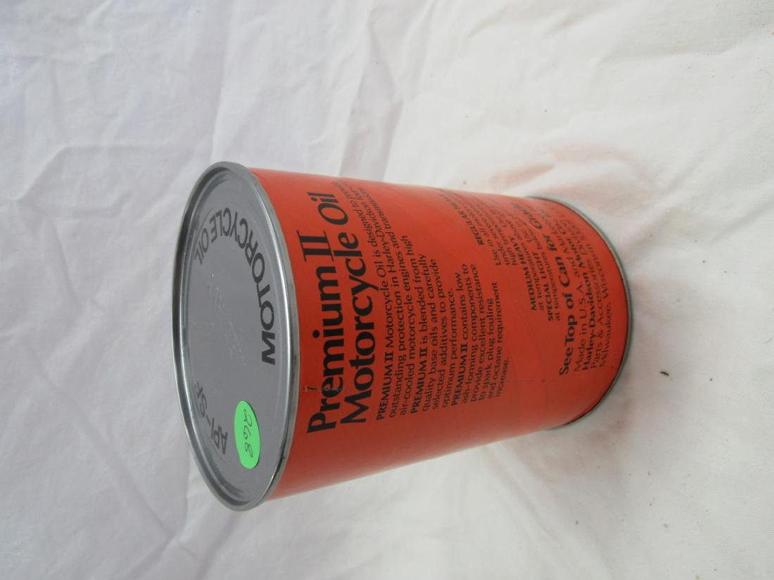 Vintage Harley-Davidson Premium II 1 Quart Oil Can - 2