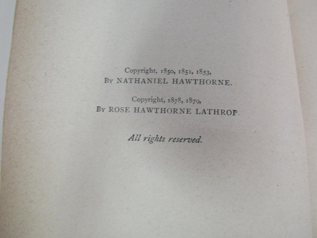 Antique Book Titled, Hawthorne's Works - 5
