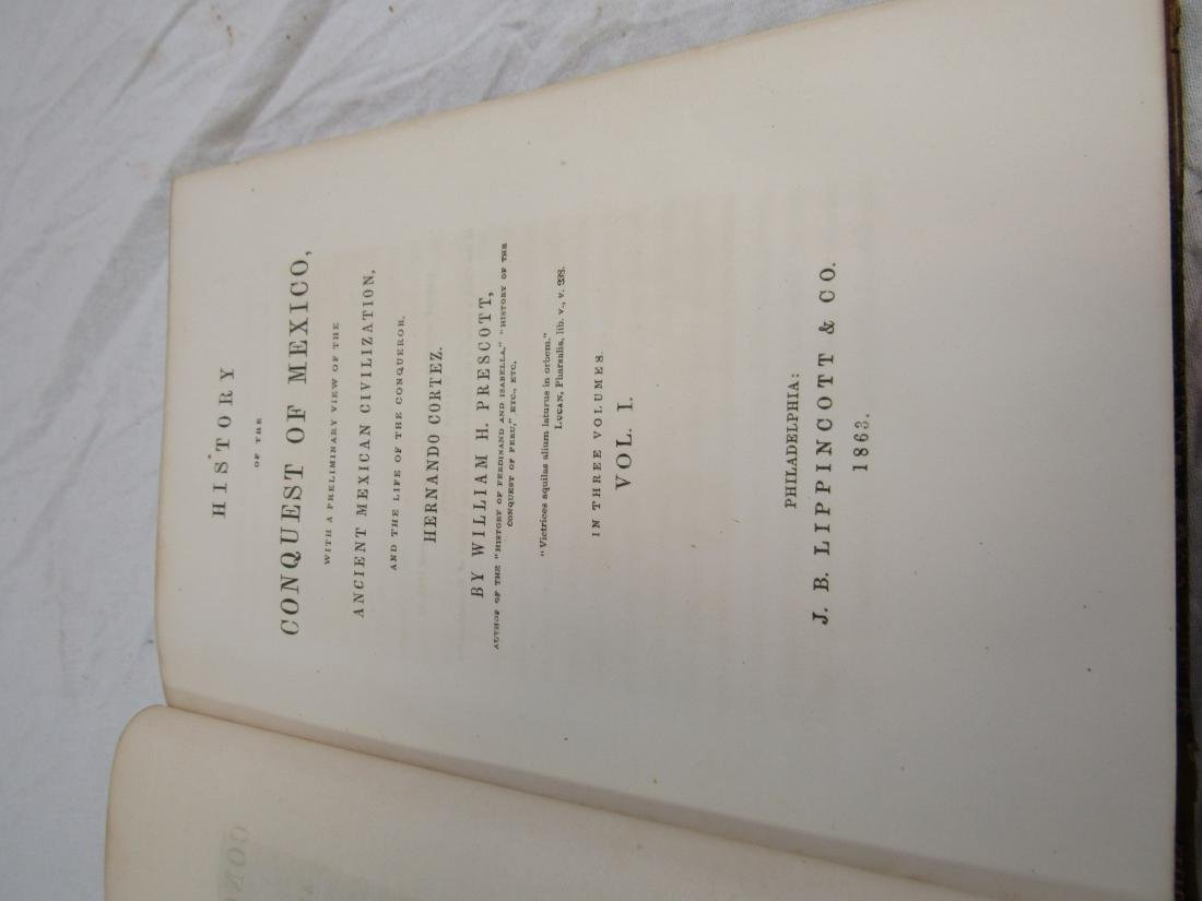 Antique Book Titled, The History of Conquest of Mexico - 3