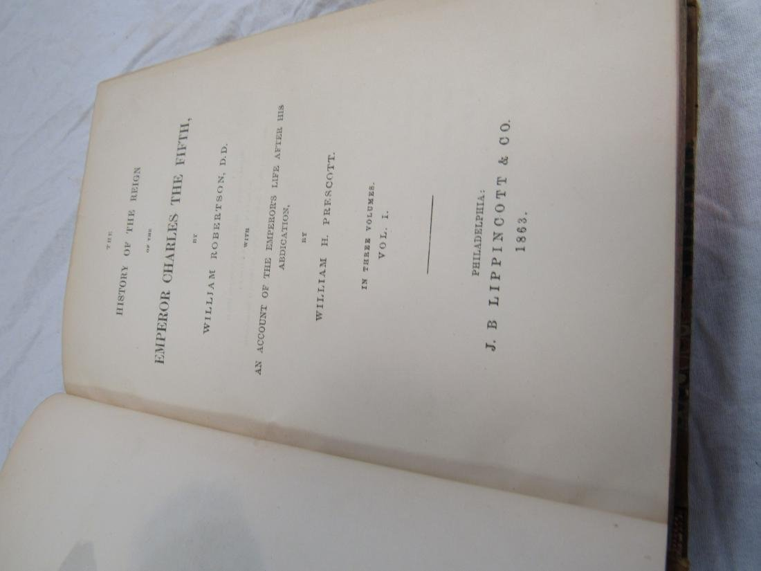 Antique Book Titled, The History of Emperor Charles the - 3