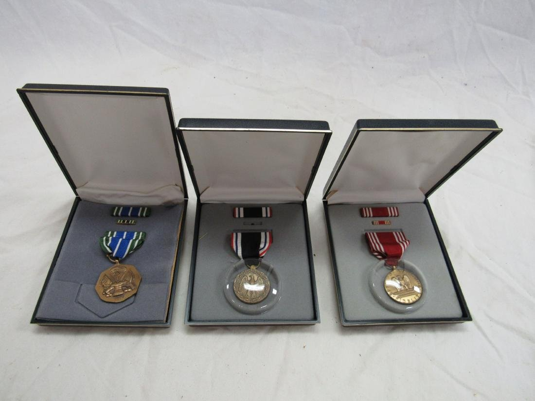 Lot of 3 Military Medals