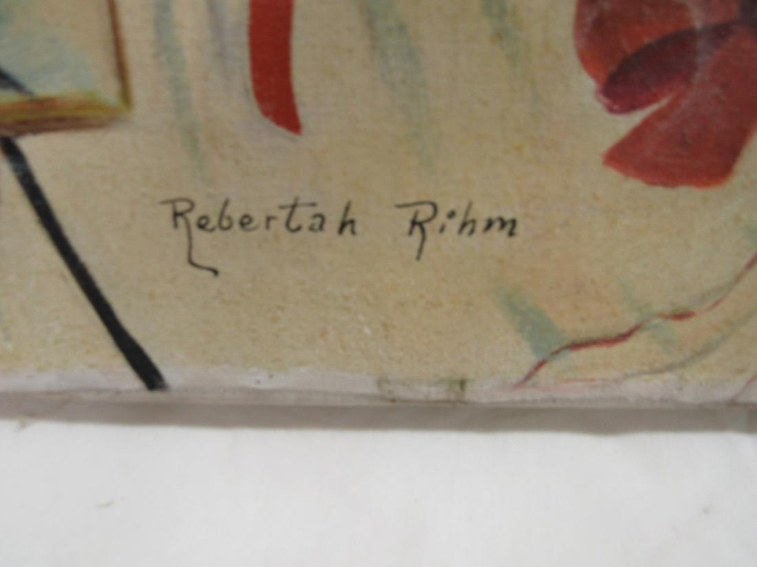 Oil on Canvas Folk Art Painting by Rebertah Rihm - 4