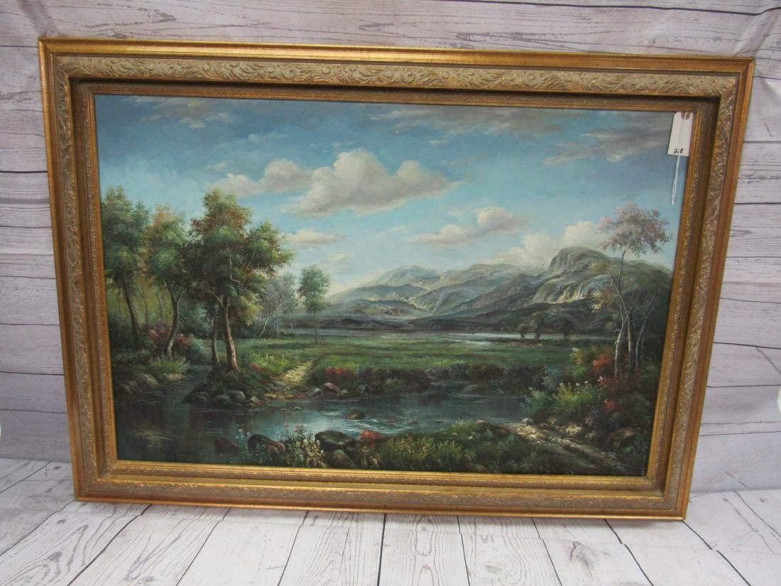 Modern Oil on Canvas Landcape Painting