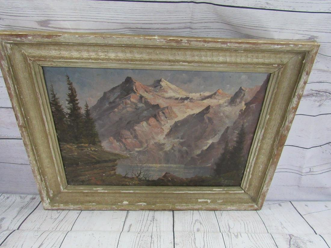 Antique F. Winter Oil on Canvas, Landscape