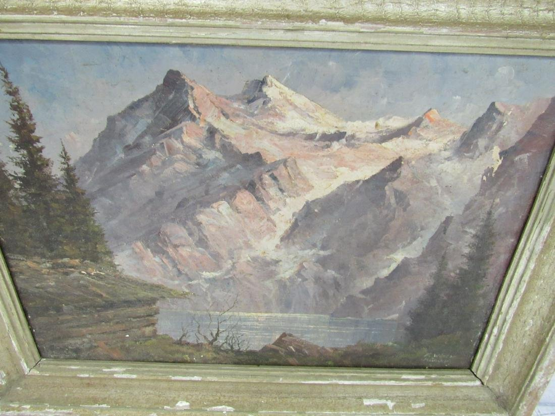 Antique F. Winter Oil on Canvas, Landscape - 2