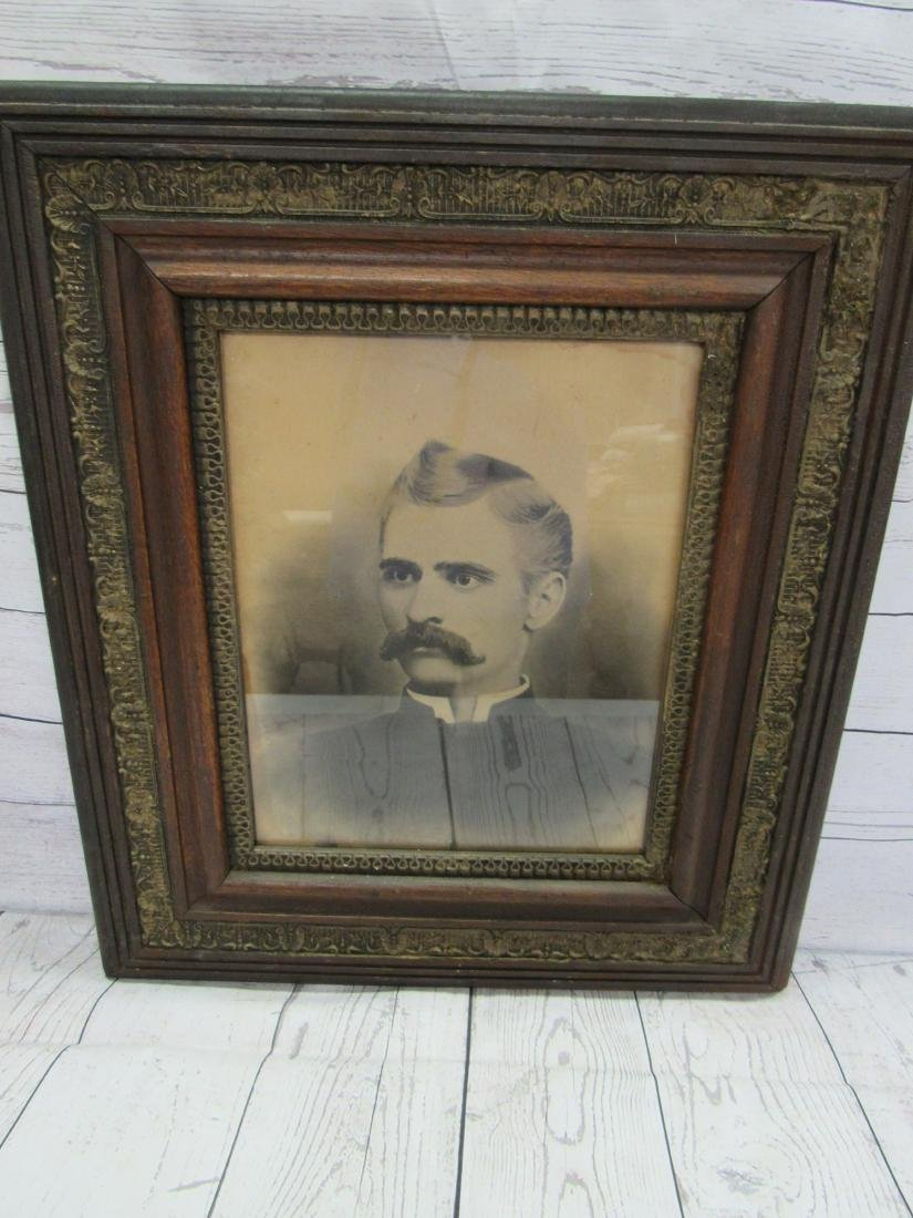 Antique Charcoal Rendering of Man in Period Frame