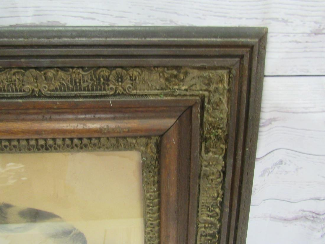 Antique Charcoal Rendering of Man in Period Frame - 3