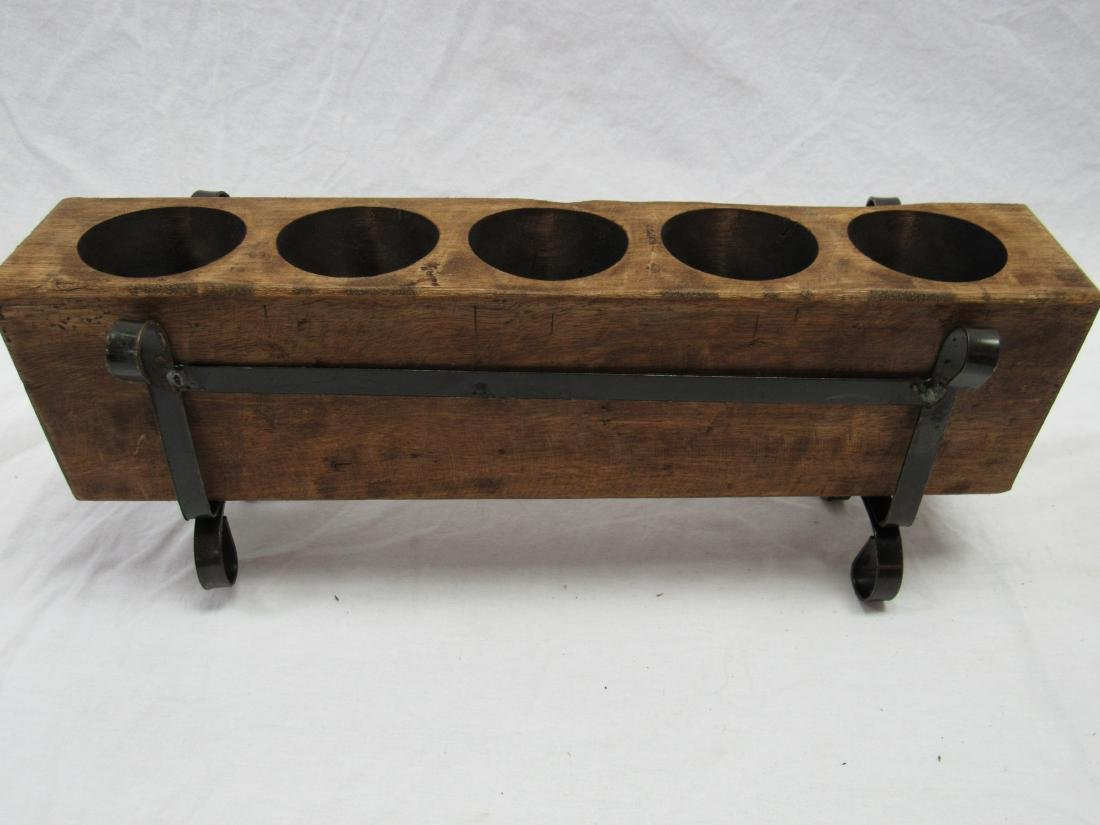 Vintage 5 Hole Sugar Mold in Metal Stand