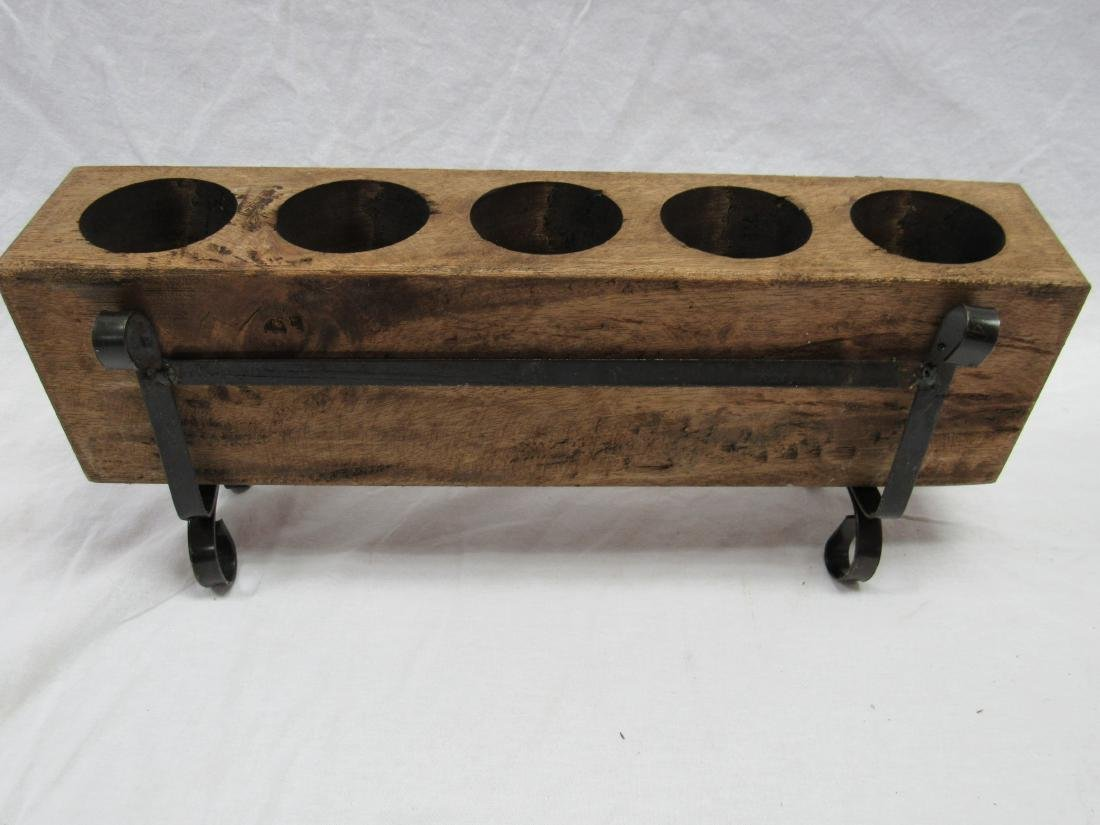 Vintage 5 Hole Sugar Mold in Metal Stand - 2