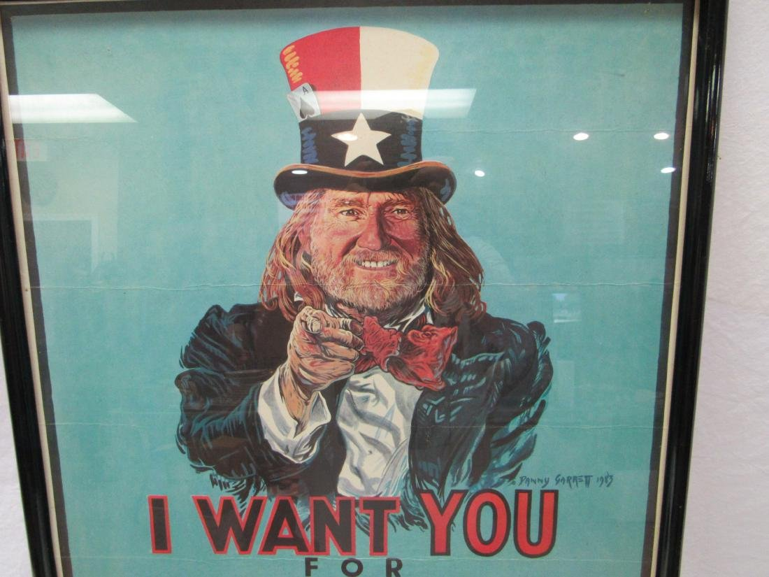 1983 Willie Nelson I WANT YOU Concert Poster - 2
