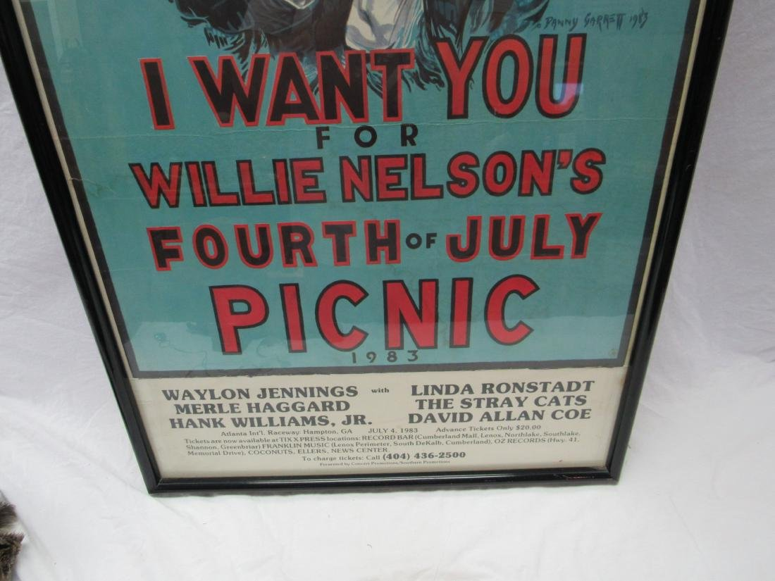 1983 Willie Nelson I WANT YOU Concert Poster - 3