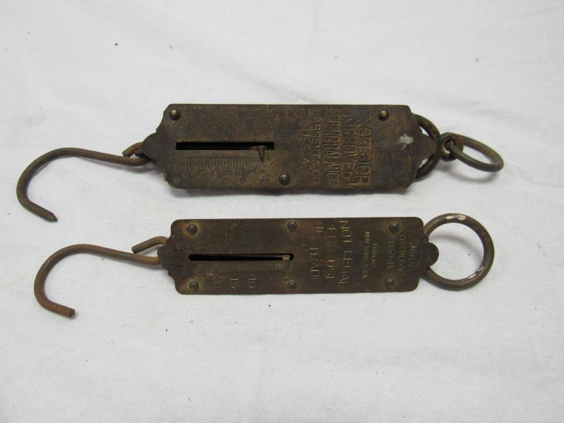 Lot of 2 Antique Spring Balance Scales