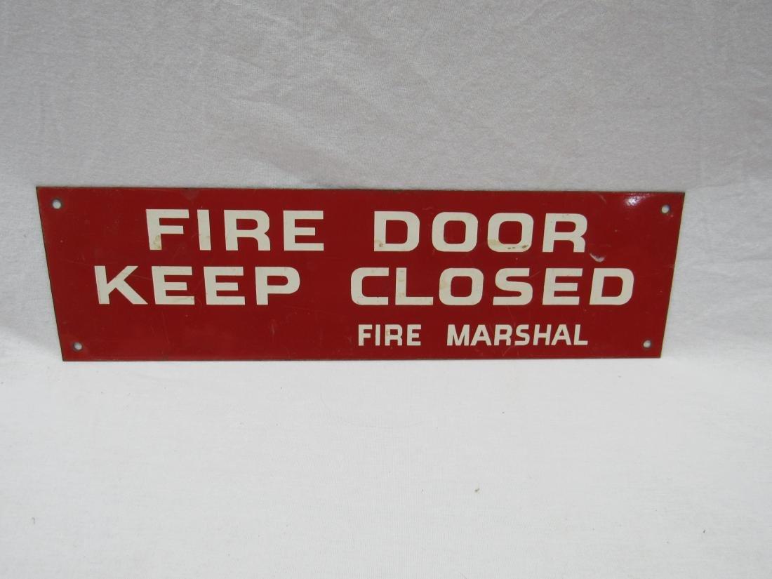 Vintage Porcelain Fire Door Sign