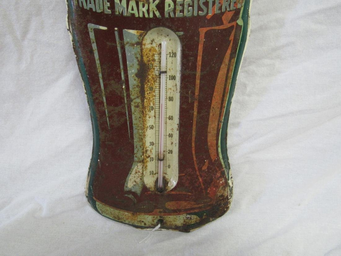 Vintage Coca Cola Bottle Thermometer - 3