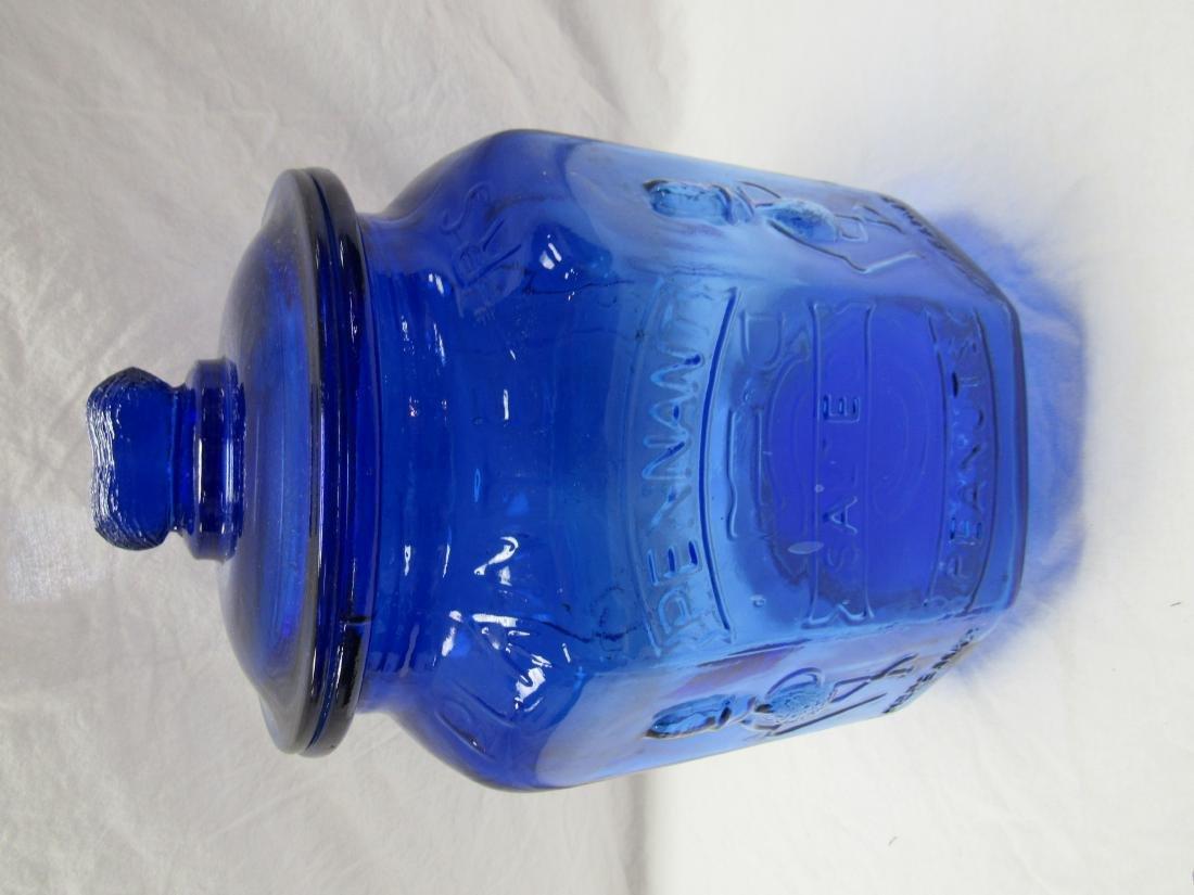 Planter's Peanuts Cobalt Advertising Jar