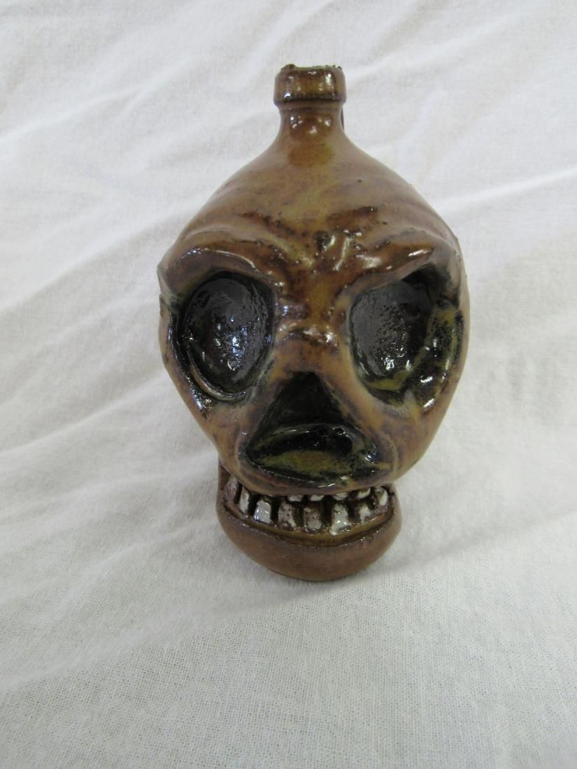 Self Taught/ Folk Artist Marvin Bailey Miniature Skull