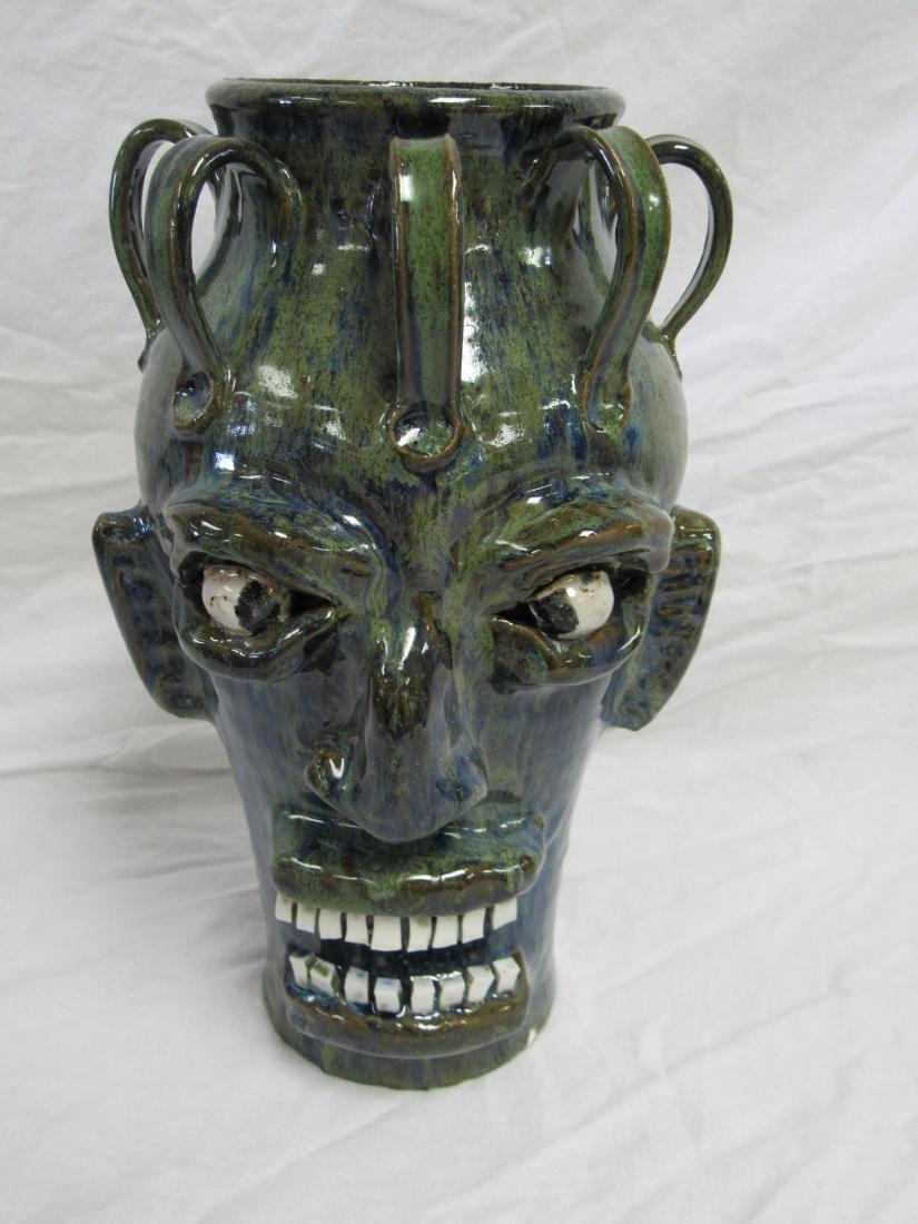Self Taught/ Folk Artist Marvin Bailey 8 Handled Face