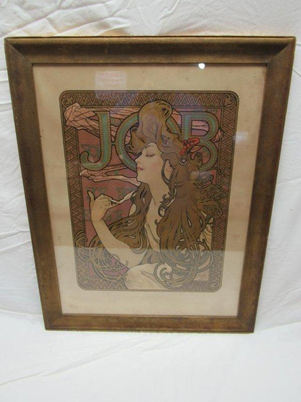 Original Alphonse Mucha JOB Advertising Poster
