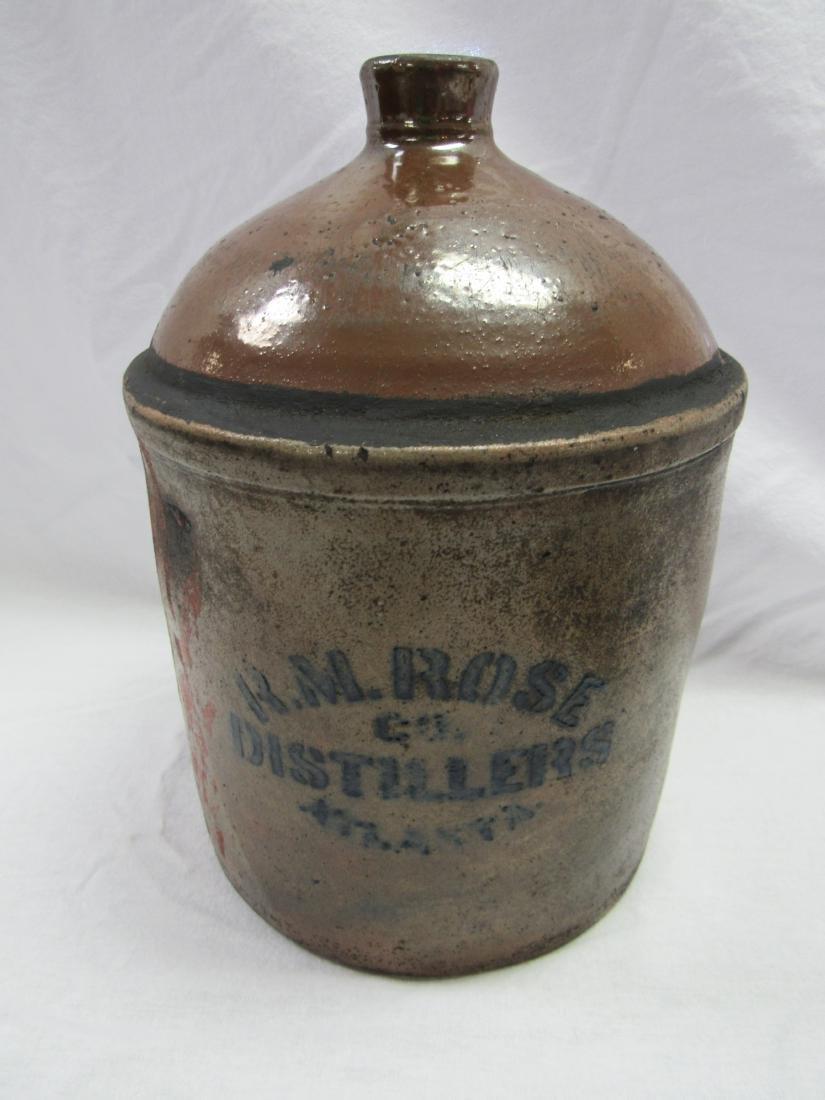 Pre 1907 Rose Distillery Atlanta, GA Whiskey Jug Signed