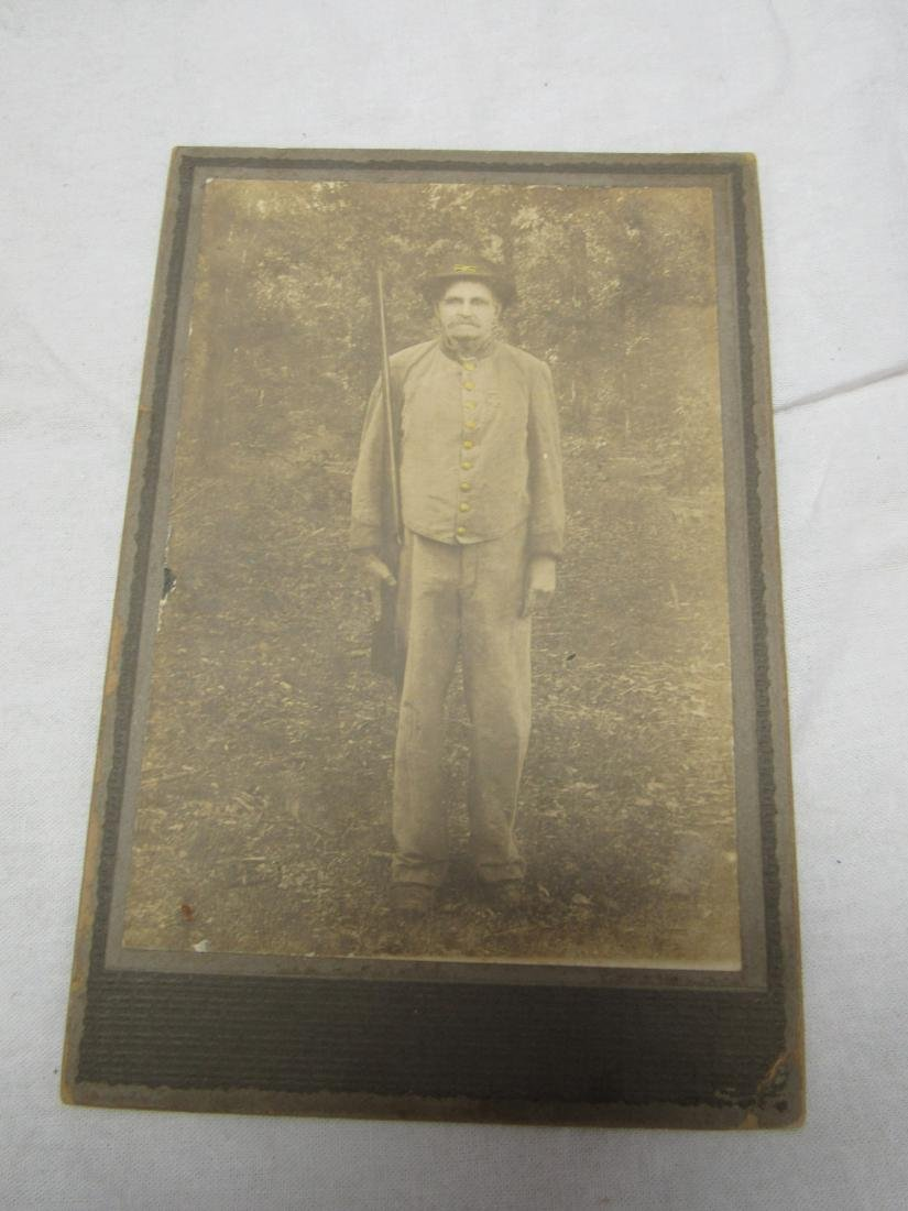 Confederate Veteran in Uniform Cabinet Card