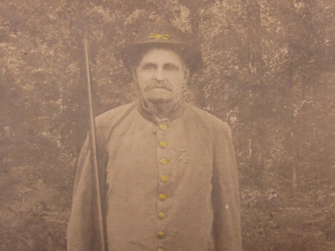 Confederate Veteran in Uniform Cabinet Card - 2
