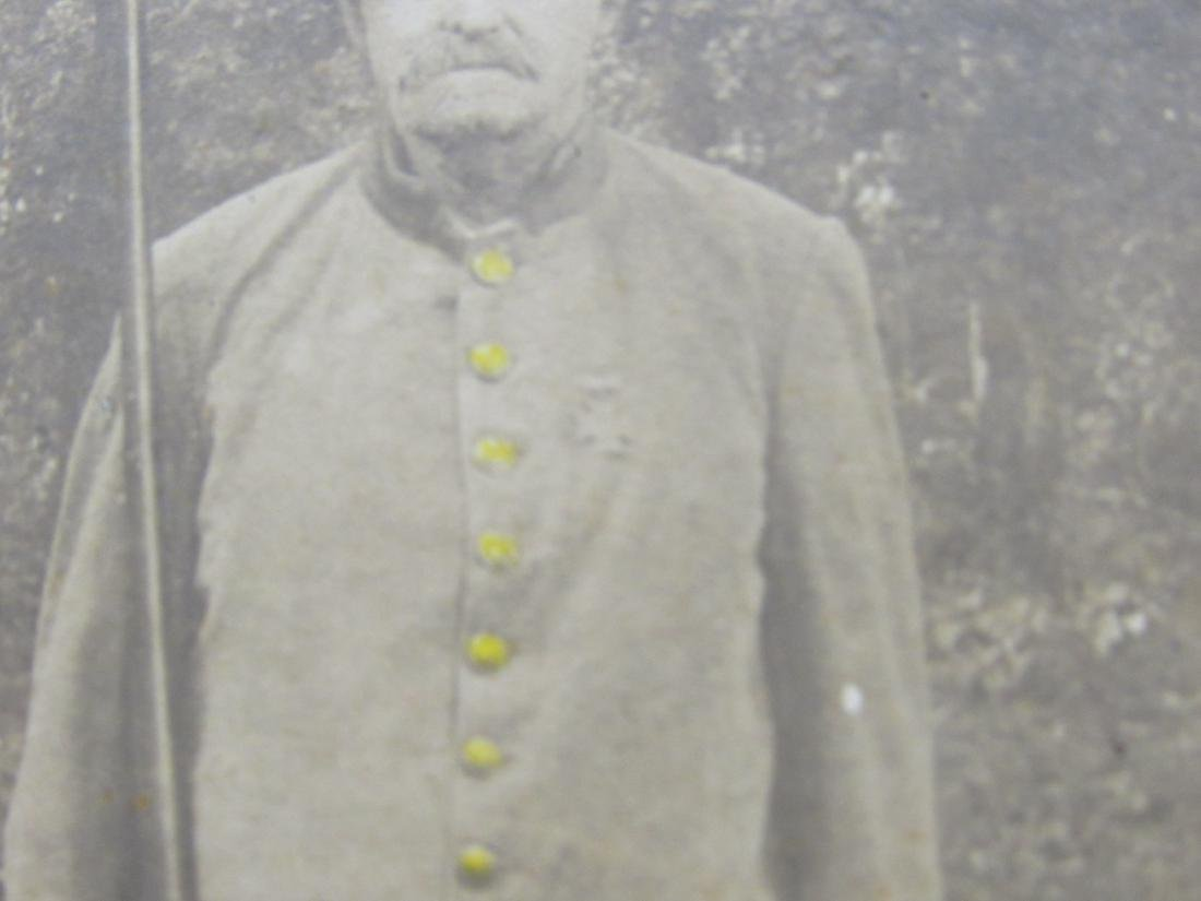 Confederate Veteran in Uniform Cabinet Card - 3