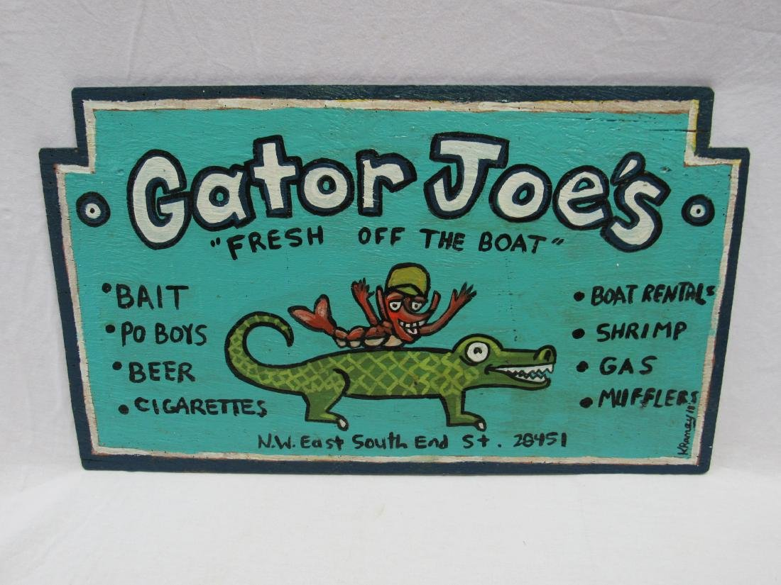 Outsider/ Folk Artist Kip Ramey Hand painted Sign on