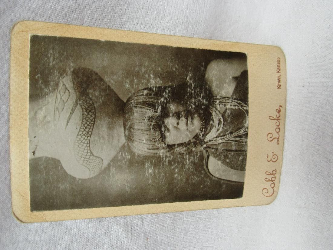 Cabinet Card depicting Native American Woman with Jar
