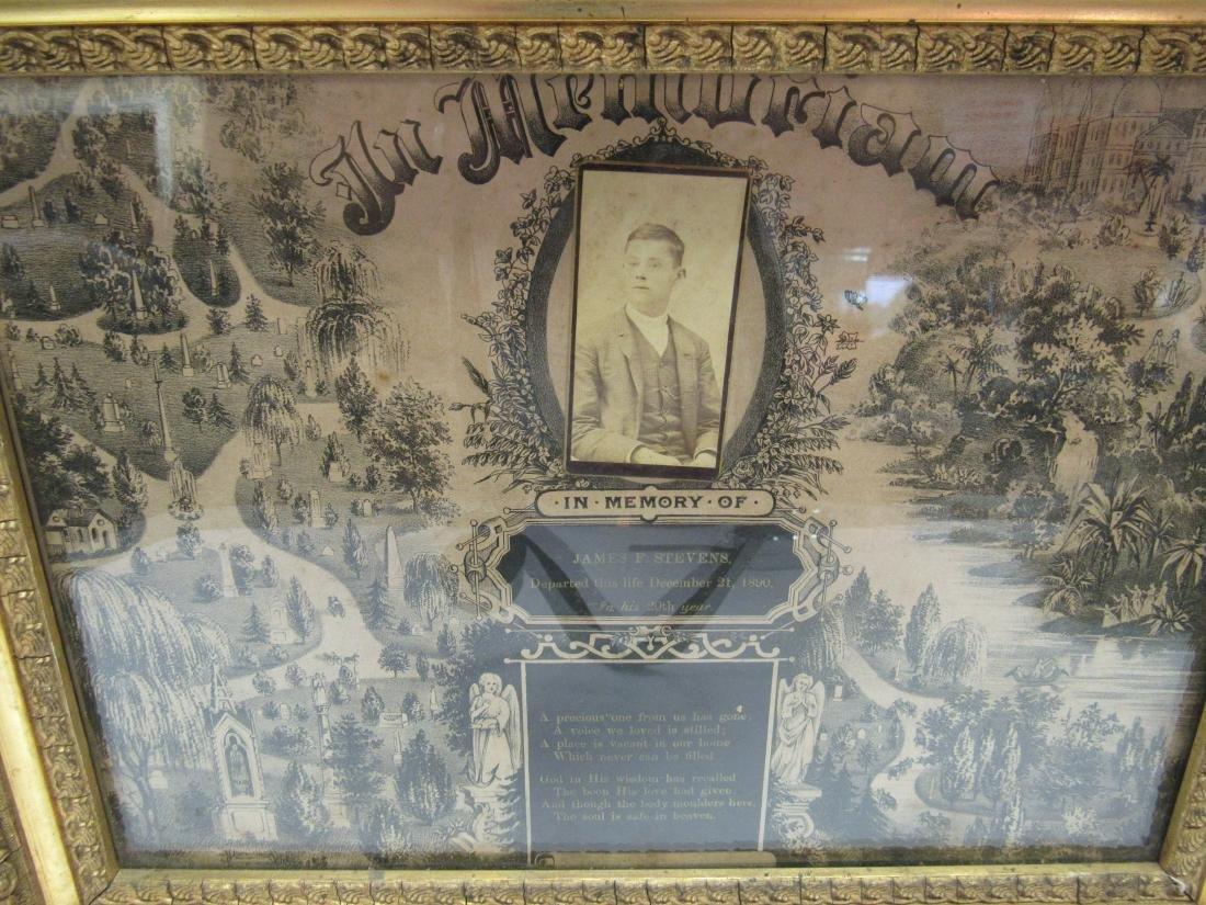 Victorian In Memoriam Program with CDV Image, - 2
