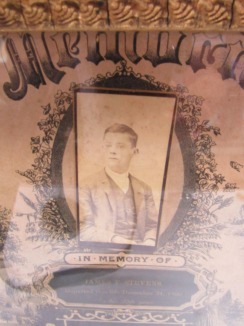 Victorian In Memoriam Program with CDV Image, - 3