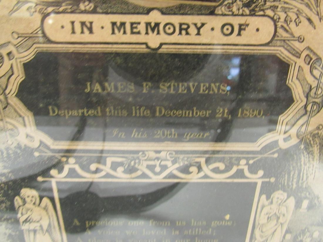 Victorian In Memoriam Program with CDV Image, - 4