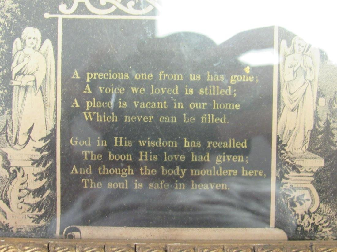 Victorian In Memoriam Program with CDV Image, - 5